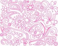 Doodle del amor Imagen de archivo libre de regalías