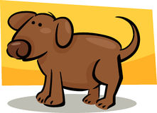 Doodle del fumetto del cane Fotografia Stock