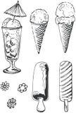 Doodle del gelato Fotografia Stock