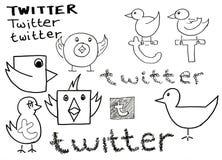Doodle del Twitter royalty illustrazione gratis
