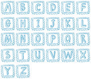 Doodle design of the alphabet Royalty Free Stock Photo