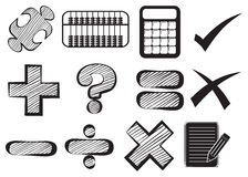 Doodle design of the different math operations. On a white background Stock Image