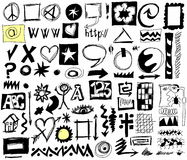 Doodle design elements background Stock Image