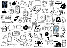 Doodle design elements Stock Images