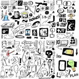 Doodle design elements Royalty Free Stock Photos