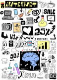 Doodle design elements Royalty Free Stock Images