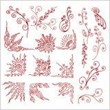 Doodle design elements set Royalty Free Stock Images