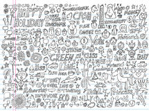 Doodle Design Elements Vector Royalty Free Stock Photo