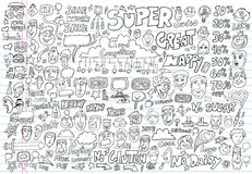 Doodle Design Elements Vector set Royalty Free Stock Photography