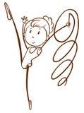 A doodle design of a gymnast Stock Photos