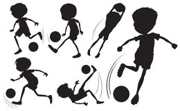 Doodle design of the soccer players Stock Photos