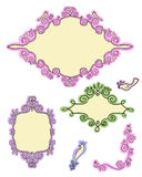 Doodle designs # 1. Set of cute doodle frames and elements – part 1 Royalty Free Stock Photo