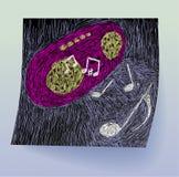 Doodle di musica Immagine Stock Libera da Diritti