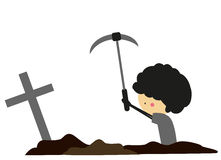 Doodle digging graves - Full Color Stock Images