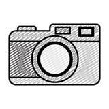 Doodle digital camera electronic object technology. Vector illustration vector illustration