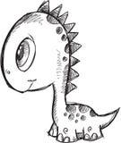 Doodle Dinosaur Vector Stock Photo
