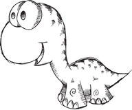 Doodle Dinosaur Vector Royalty Free Stock Image