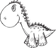 Doodle Dinosaur Vector Royalty Free Stock Photo