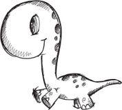Doodle Dinosaur Vector Stock Image