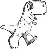 Doodle Dinosaur Vector Royalty Free Stock Photos