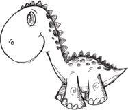 Doodle dinosaura wektor Zdjęcie Royalty Free