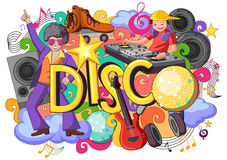 Doodle on Disco concept Royalty Free Stock Images