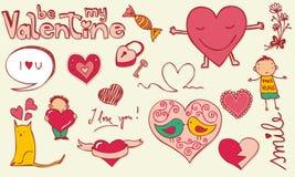 Doodle do amor Imagem de Stock