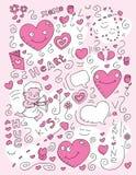 Doodle do amor Fotos de Stock