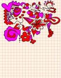 Doodle do amor Fotografia de Stock