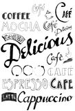 Doodle do café Fotografia de Stock Royalty Free