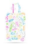 Doodle do curso Fotografia de Stock
