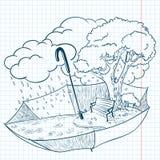 Doodle do outono Imagens de Stock