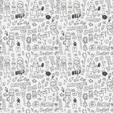 Doodle doctor element seamless pattern Royalty Free Stock Photos