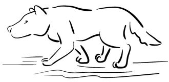 Doodle dog 003. Doodle animal for animation `hand drawing Stock Image