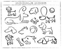 Doodle dog 006. Funny characters, different doodle dogs for funny life`s stories Royalty Free Stock Photos