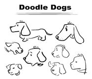 Doodle dog 005. Funny characters, different doodle dogs for funny life`s stories Stock Images