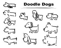 Doodle dog 002. Funny characters, picrure for game, different doodle dogs for funny life`s stories Stock Photo