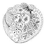 Doodle-doodle-zentangle Στοκ Εικόνα