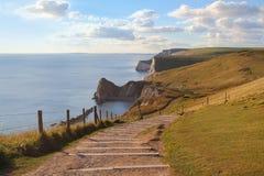 Doodle door costline. Panoramic view at Dorset's Doodle door coastline Royalty Free Stock Photo