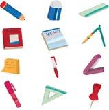 Doodle dos artigos de papelaria Imagens de Stock