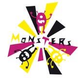 Doodle dos monstro Foto de Stock Royalty Free