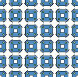 Textile and paper square blue pattern royalty free stock photography