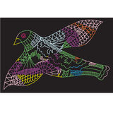 Doodle drawing flying birds, vector illustration Stock Image