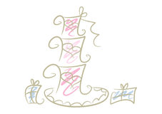Doodle Drawing: Wedding Cake Royalty Free Stock Photo