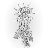 Doodle dreamcatcher wektoru ilustracja Obraz Stock