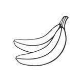 Doodle dwa banana Obrazy Royalty Free