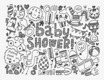 Doodle dziecka tło Zdjęcie Royalty Free