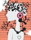doodle dziewczyny s sylwetka Zdjęcia Royalty Free