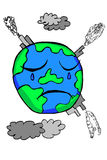 Doodle Earth -  Pollution Stock Photo