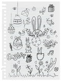 Doodle easter background Royalty Free Stock Photos